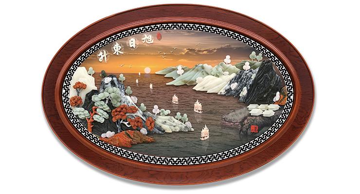 旭日东升-新(椭圆框)120X80cm-01