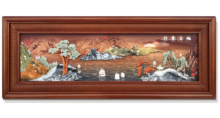 旭日东升-新(精雕套框)220X80cm-01