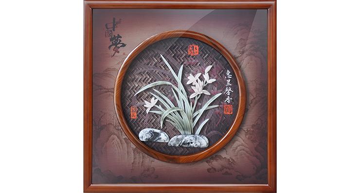惠兰馨香(玻璃框)60X60cm