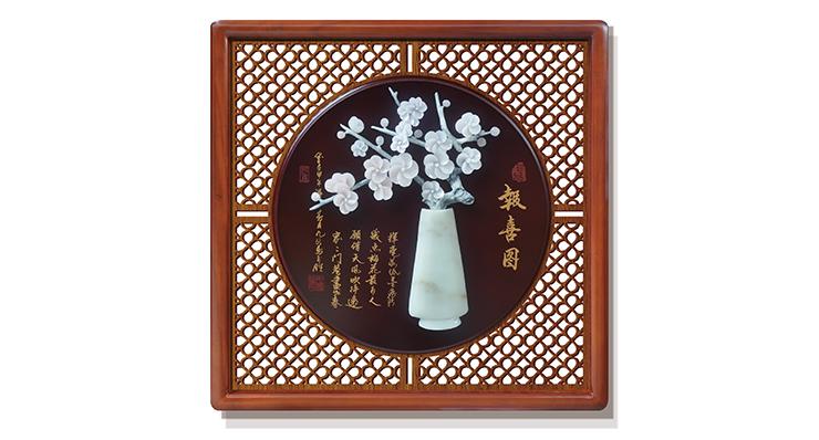 报喜图(花格框)60X60cm-01