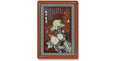 花开富贵(花格框)120X80cm-01