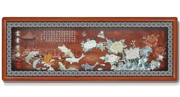 富贵有余(花格框)220X80cm-01