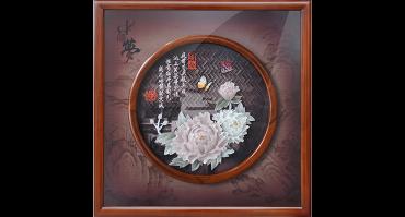 花开富贵(玻璃框)60X60cm
