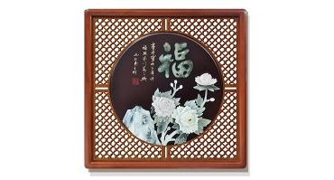 福(花格框)60X60cm-01