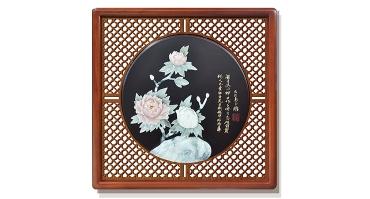 花开富贵(花格框)60X60cm-01