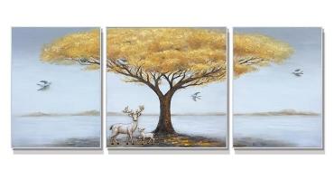 湖南手绘油画-发财树